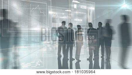Digital composite of Digital composite image of business people