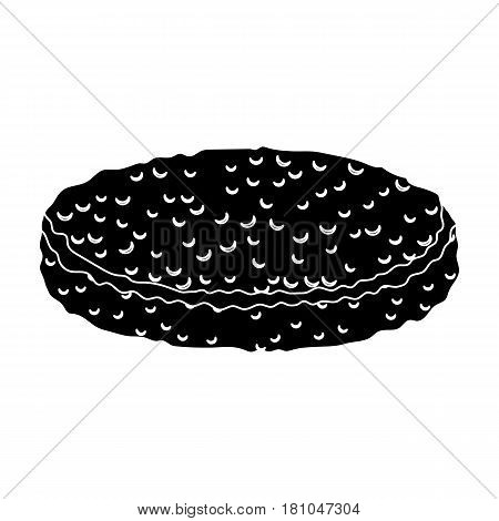Fried eggs with yolk.Burgers and ingredients single icon in black style vector symbol stock web illustration.