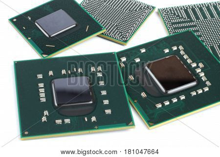 laptop video chip isolated on white background