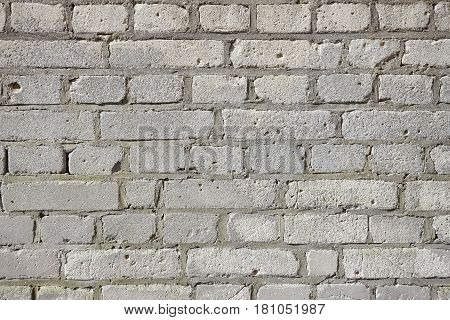 Picture Of An Old Gray Weathered Brick Wall.