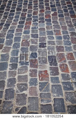 Picture Of An Old Cobblestone Street.