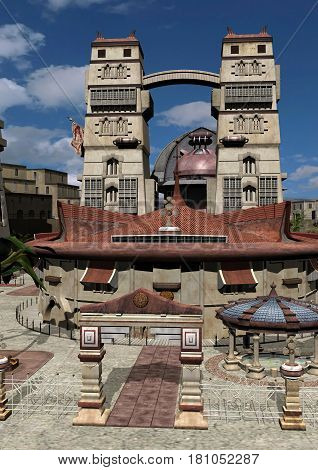3D Rendering Ancient City