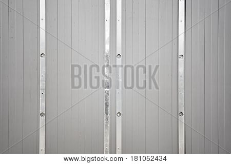 Picture Of Lined Metal Wall, Industrial Background