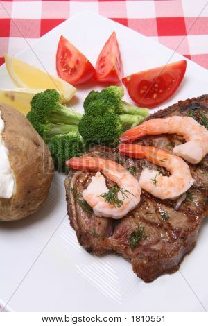 Steak And Shrimp Dinner