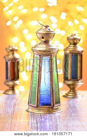 A Group Of Three Ramadan Lanterns