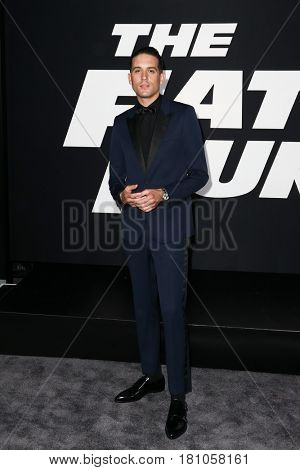 NEW YORK-APR 8: Rapper G-Eazy attends the premiere of