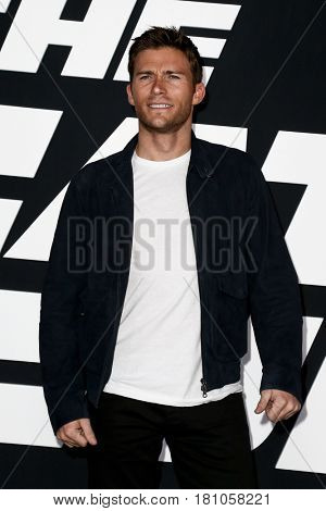 "NEW YORK-APR 8: Actor Scott Eastwood attends the premiere of ""The Fate of the Furious"" at Radio City Music Hall on April 8, 2017 in New York City."