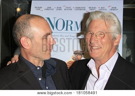 LOS ANGELES - APR 5: Joseph Cedar, Richard Gere at the premiere of Sony Pictures Classics' 'Norman' at Linwood Dunn Theater at the Pickford Center for Motion Study on April 5, 2017 in Los Angeles, CA