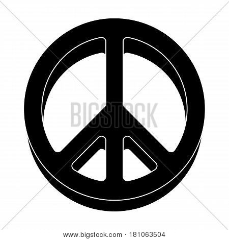 The icon of the world.Hippy single icon in black style vector symbol stock illustration .