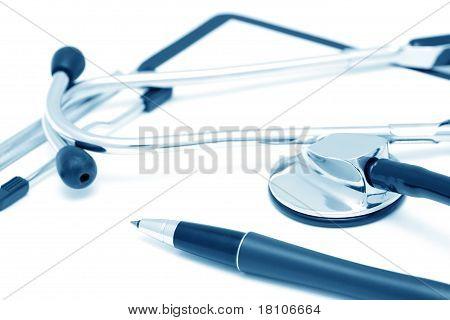 Clinic Diagnostic Still-life (blue toned)