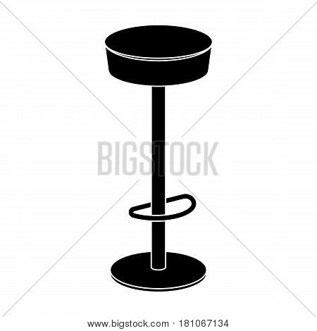High chair seat near the bar. Bary chair to relax. Pub single icon in black style vector symbol stock web illustration.