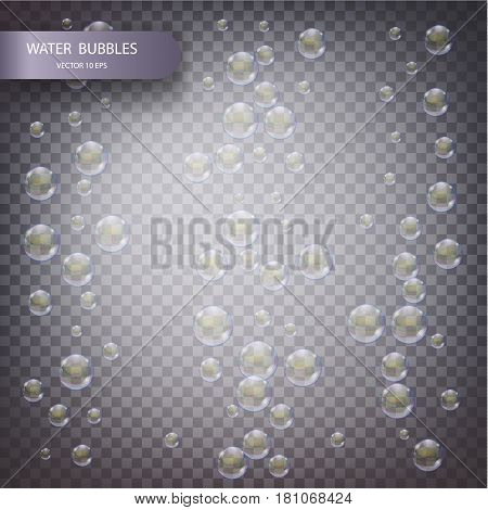 Water Bubbles Isolated
