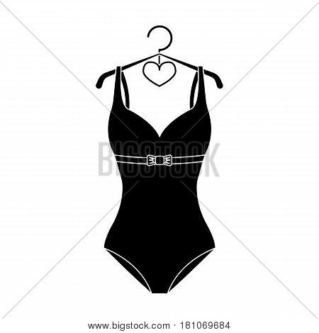 Plaid swimsuit in red and . Underwear for swimming.Swimcuits single icon in black style vector symbol stock web illustration.