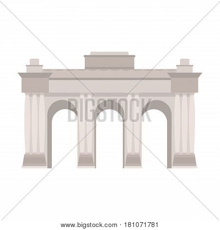 The Belgian arch monument.The dark Belgian wolf. Belgium single icon in cartoon style vector symbol stock web illustration.
