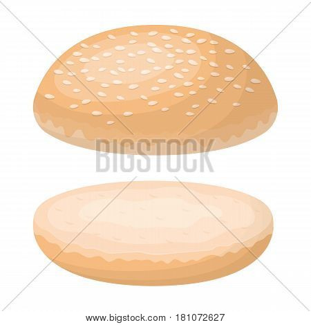 Burger roll.Burgers and ingredients single icon in cartoon style vector symbol stock web illustration.
