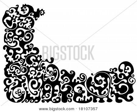 Patterned Angle In Black