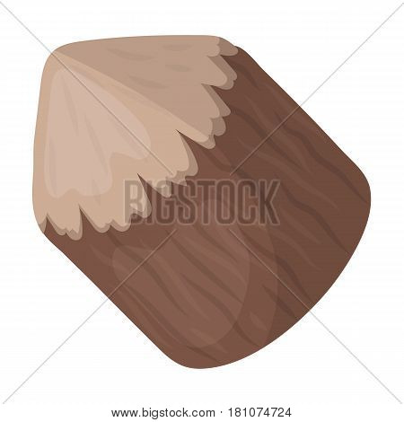 Conical log. Canada single icon in cartoon style vector symbol stock illustration .