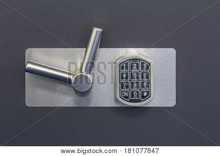 Digital safe lock code on a Safety box bank