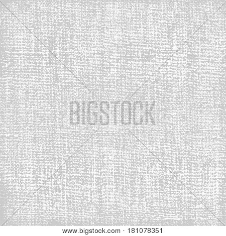 Canvas texture background gray color with white backdrop