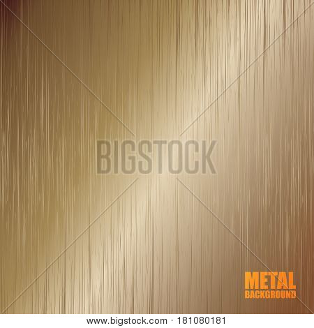Bronze brushed texture with light vertical reflection