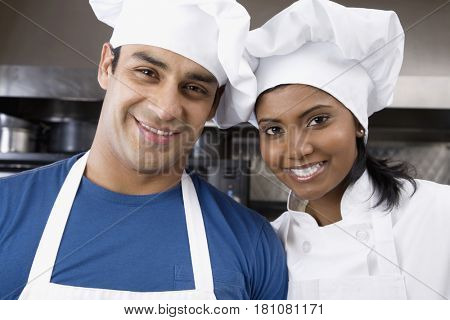Portrait of multi-ethnic pastry chefs