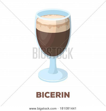 .bicerin coffee.Different types of coffee single icon in cartoon style vector symbol stock illustration .
