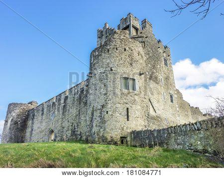 Ross castle in an historic ruin in Killarney, Ireland