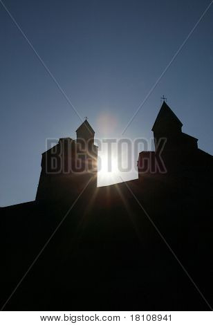 A Church And Evening Sky