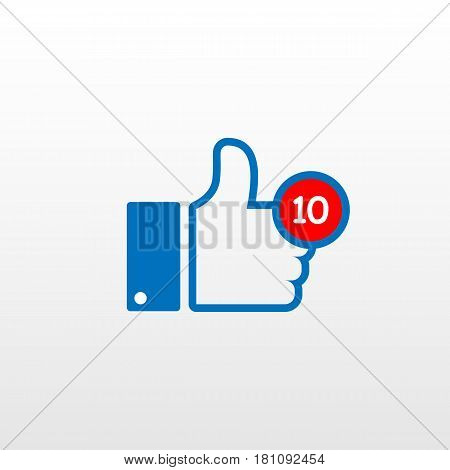 Thumbs Up Icon On A Flat Style
