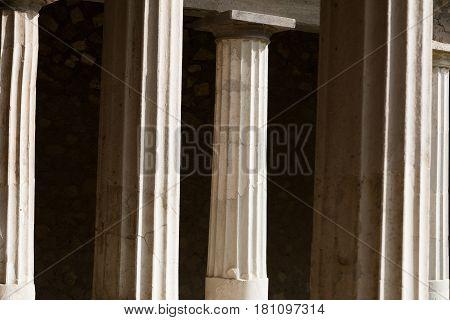 Columns In Villa Oplontis