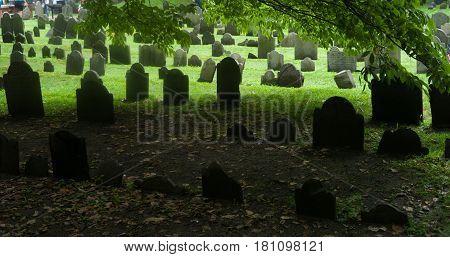 Boston, Massachusetts,. Granary Burying Ground