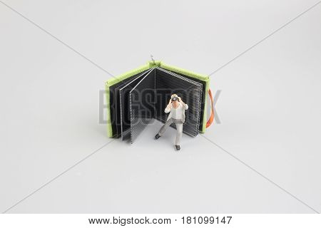 Image Of Mini Figure Dolls Photographer Take Picture