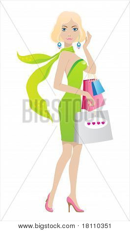 Shopping blond