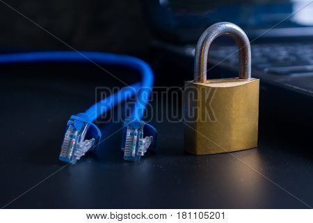 Abstract data security encryption concept. Safety and protection concept.