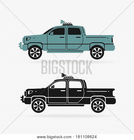 Vehicle pickup symbol vector eps 8 file format