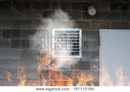 Industrial Ventilation And Air Conditioning Pipe With Smoke And Fire