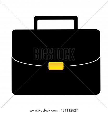 silhouette with executive black briefcase vector illustration