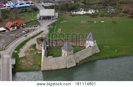 HRVATSKA KOSTAJNICA, CROATIA - NOVEMBER 07: Fortress Kastel is a castle in Hrvatska Kostajnica, a town in central Croatia, near the border to Bosnia and Herzegovina, on November 07, 2007.