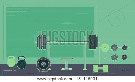A great free gym with weights illustration