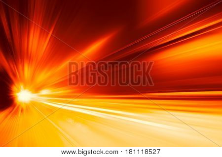 High Speed Business And Technology Concept, Acceleration Super Fast Speedy Car Drive Motion Blur Of