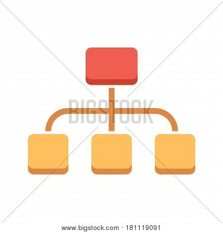 Organization Flat Vector Icon. Flat icon isolated on the white background. Editable EPS file. Vector illustration.