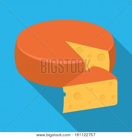 A real Belgian cheese.The dark Belgian wolf. Belgium single icon in flat style vector symbol stock web illustration.