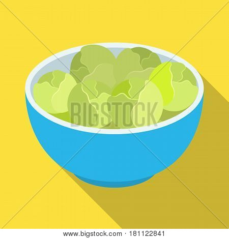A plate of salad greens.The dark Belgian wolf. Belgium single icon in flat style vector symbol stock web illustration.