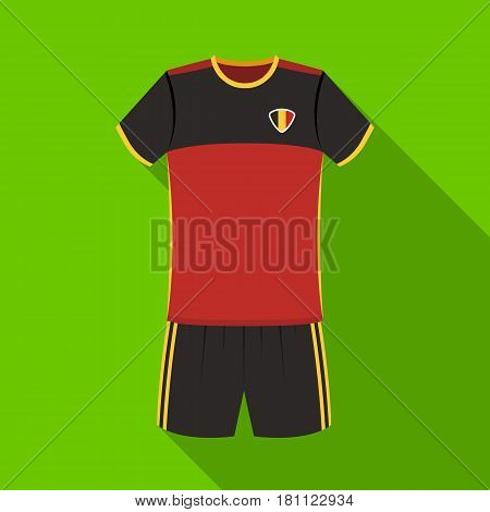 Form of the Belgian football team.The dark Belgian wolf. Belgium single icon in flat style vector symbol stock web illustration.