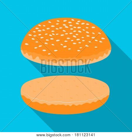 Burger roll.Burgers and ingredients single icon in flat style vector symbol stock web illustration.