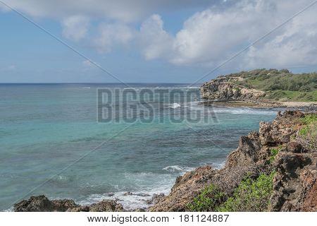 Beautiful Coastline: a portion of the coastline along The Heritage Trail on Kauai, Hawaii