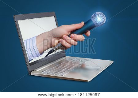 Microphone For Interviews From The Laptop.
