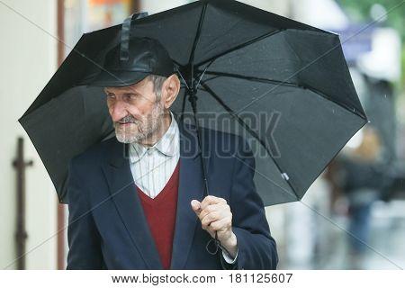 Senior Adult On Street