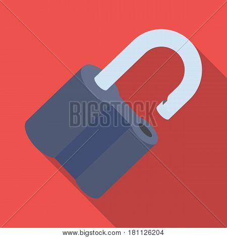 Padlock hacked. The challenge for the Pathfinder to solve the crime.Detective single icon in flat style vector symbol stock web illustration.