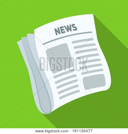 Newspaper, news.Paper, for the cover of a detective who is investigating the case.Detective single icon in flat style vector symbol stock web illustration.
